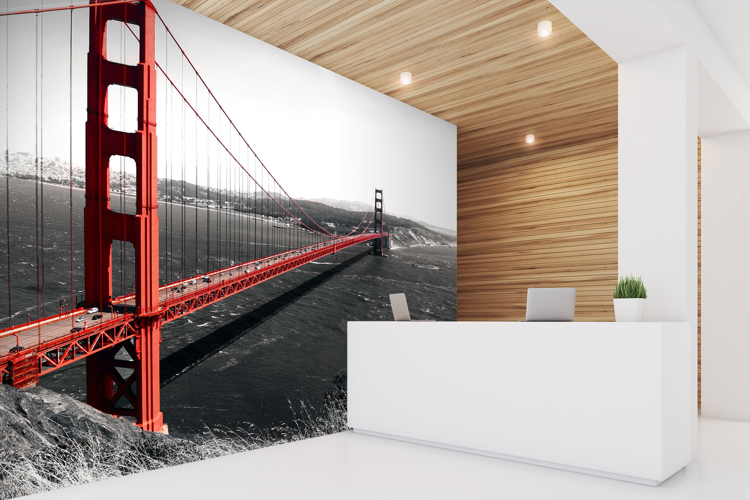 3D Sea Bridge 063 Wall Murals