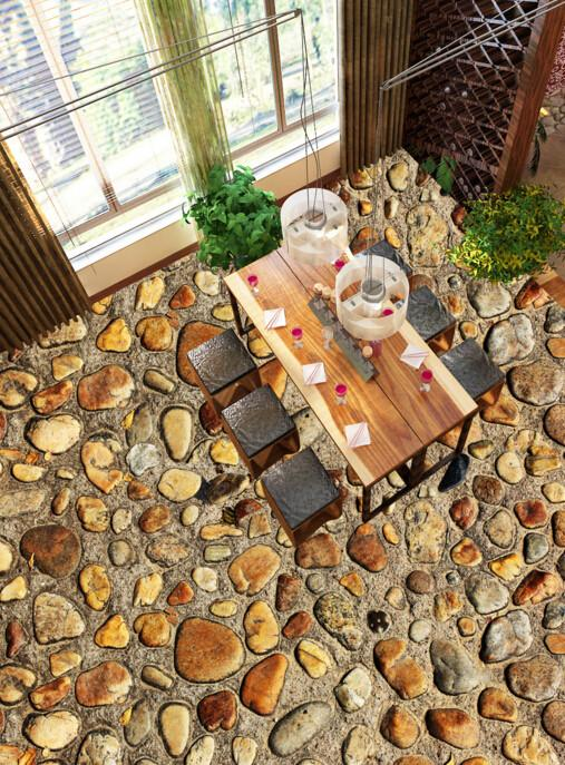 3D Stone Ground Floor Mural Wallpaper AJ Wallpaper 2