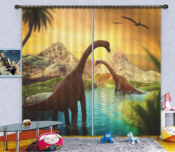 3D Thunder Dragon Bath 159 Curtains Drapes Curtains AJ Creativity Home