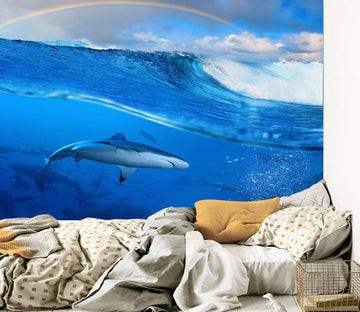 3D Deep Sea Shark 062 Wall Murals