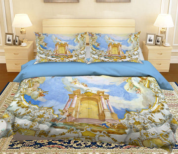 3D Paradise Palace 253 Bed Pillowcases Quilt