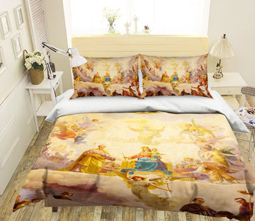3D Throne Angel 006 Bed Pillowcases Quilt Quiet Covers AJ Creativity Home
