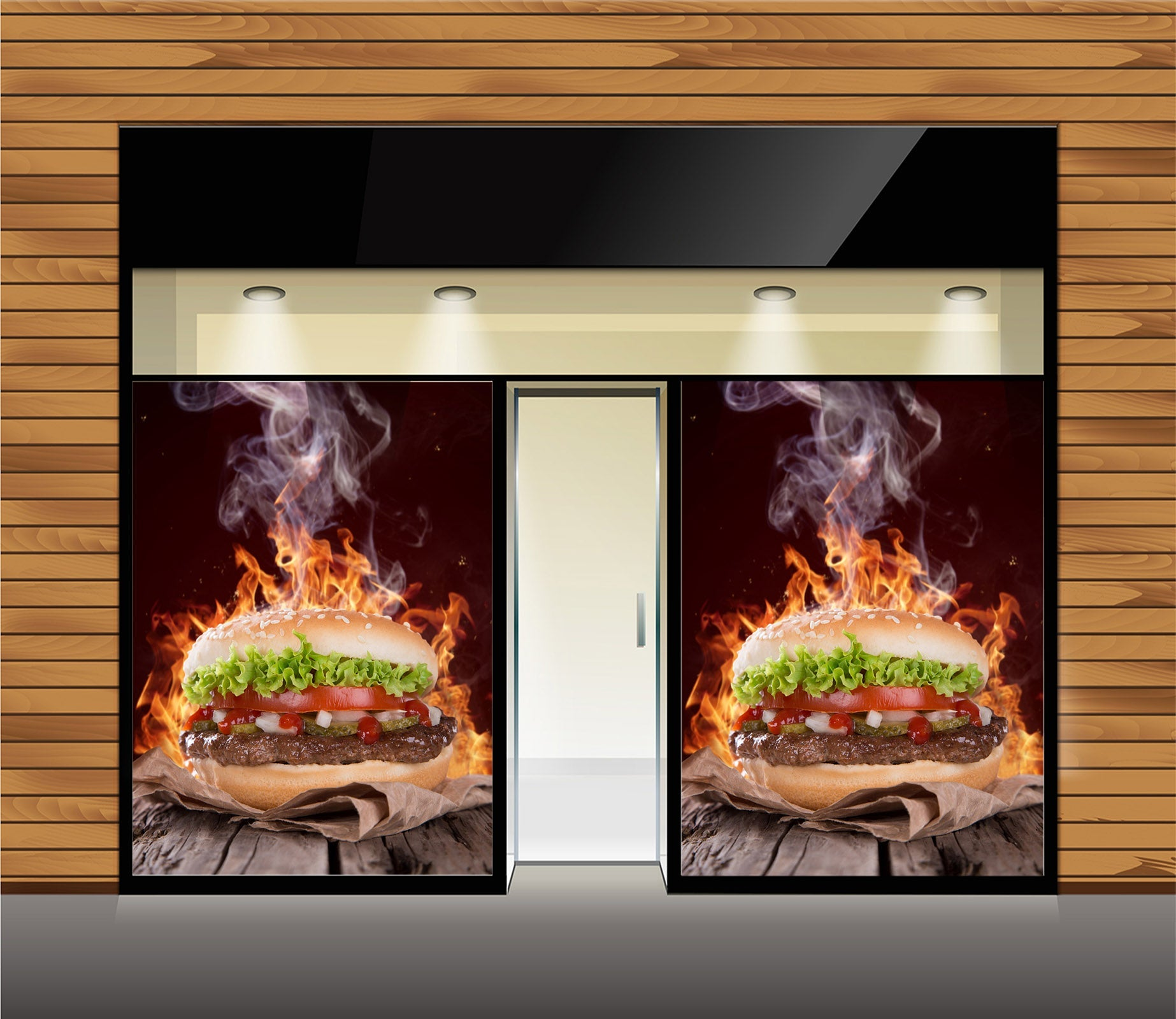3D Delicious Burger 030 Food Wall Murals