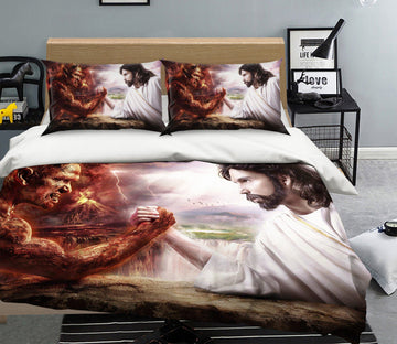3D Angel And Devil 008 Bed Pillowcases Quilt Quiet Covers AJ Creativity Home