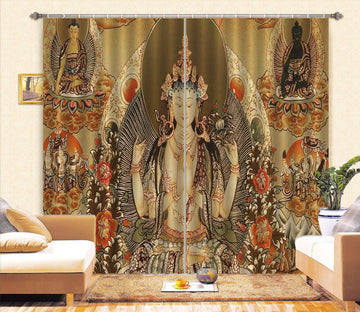 3D Pray For Contemplation 058 Curtains Drapes Curtains AJ Creativity Home