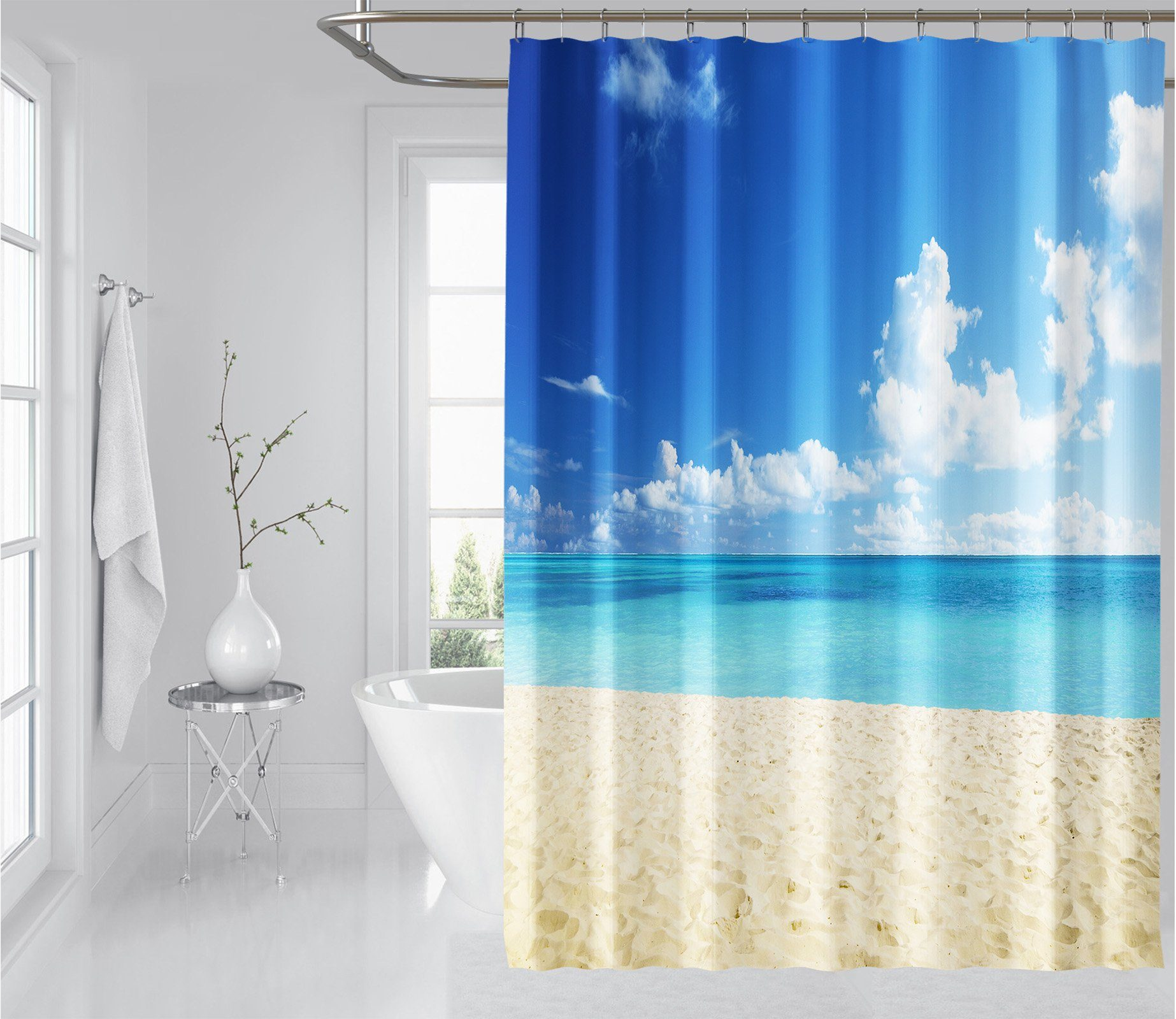 3D Beach Sea 021 Shower Curtain 3D Shower Curtain AJ Creativity Home
