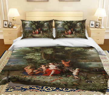 3D Woods Fruit 007 Bed Pillowcases Quilt Quiet Covers AJ Creativity Home