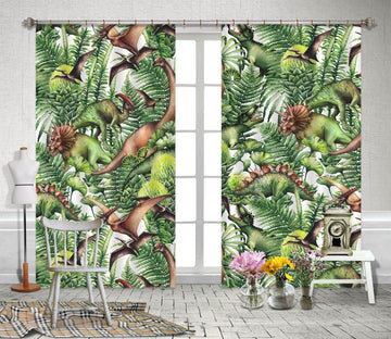 3D Cartoon Dinosa 166 Curtains Drapes Curtains AJ Creativity Home