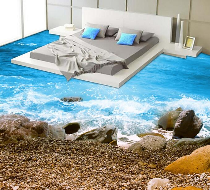 3D Beautiful Coast Floor Mural - AJ Walls - 2