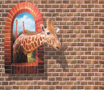 3D Giraffe 081 Wallpaper AJ Wallpaper