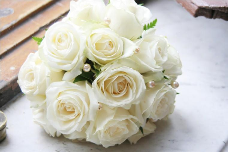 White Bouquet Wallpaper AJ Wallpaper