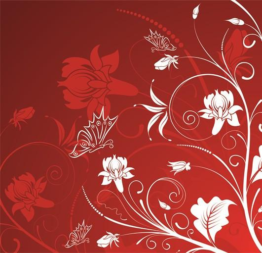 Dancing Flower Vines 1 Wallpaper AJ Wallpaper