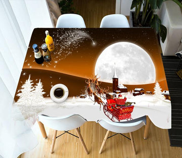 3D Round Moon Village 67 Tablecloths Tablecloths AJ Creativity Home