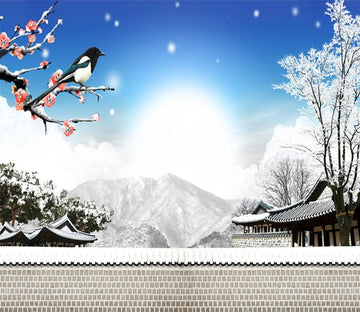3D Branch Birds Sunshine 992 Wallpaper AJ Wallpaper
