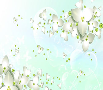3D White Clover 242 Wallpaper AJ Wallpaper 2