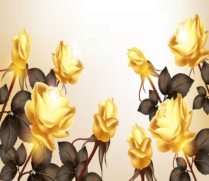3D Golden Tulips 65 Wallpaper AJ Wallpapers