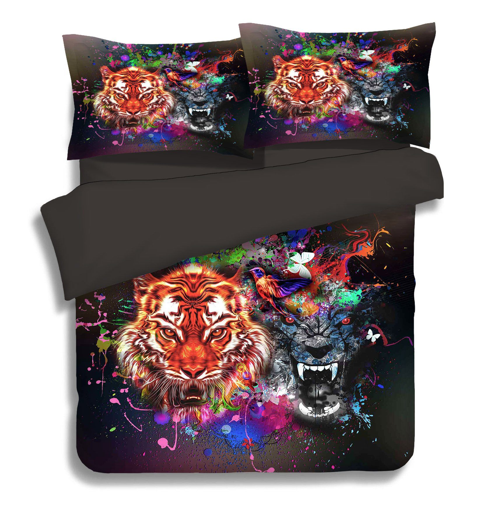 3D Bright Tigers 276 Bed Pillowcases Quilt