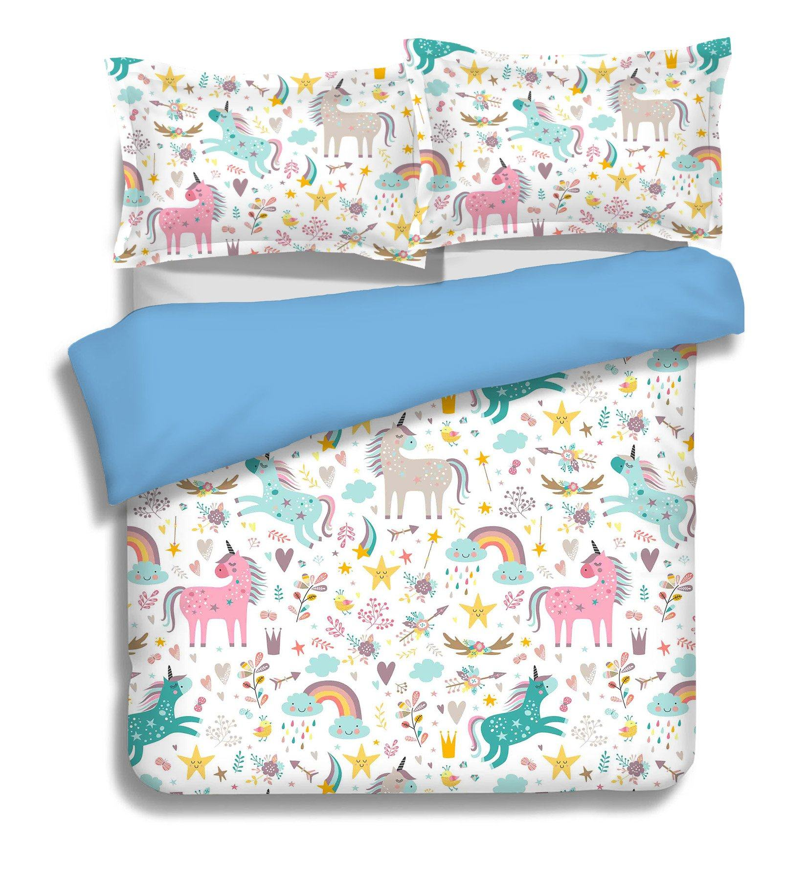 3D Rainbow Horse 072 Bed Pillowcases Quilt Wallpaper AJ Wallpaper