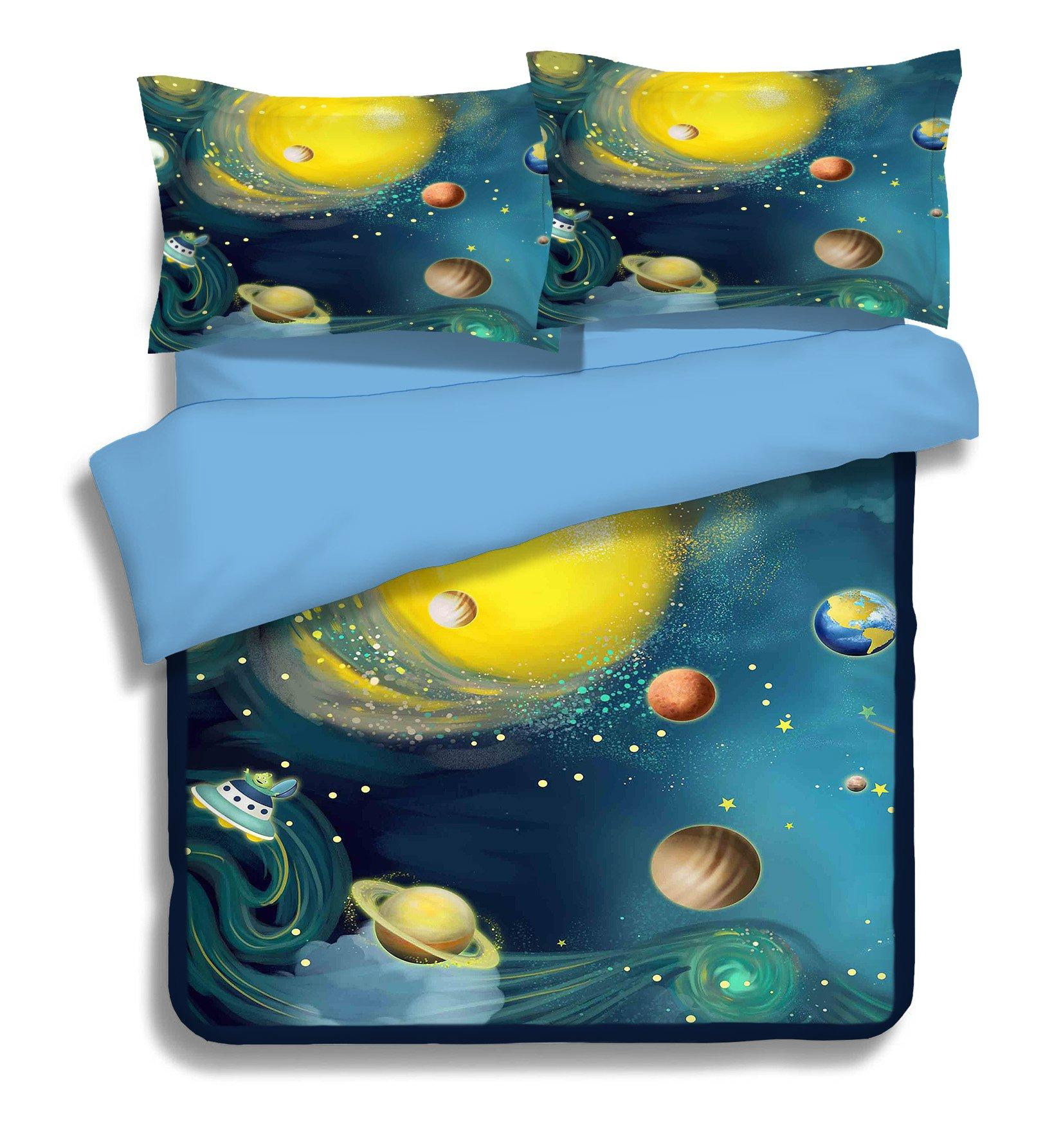 3D Spacecraft Planet 139 Bed Pillowcases Quilt Wallpaper AJ Wallpaper