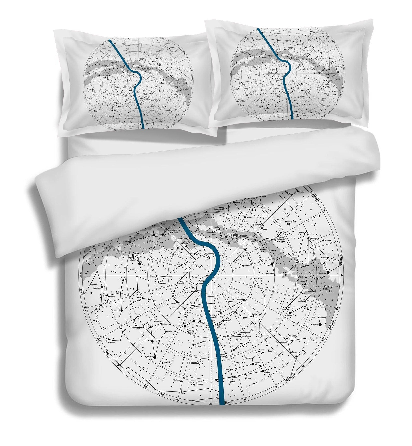 3D Constellation Map 129 Bed Pillowcases Quilt