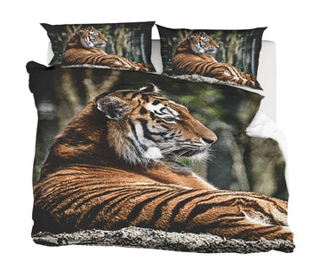3D Tiger 2008 Bed Pillowcases Quilt