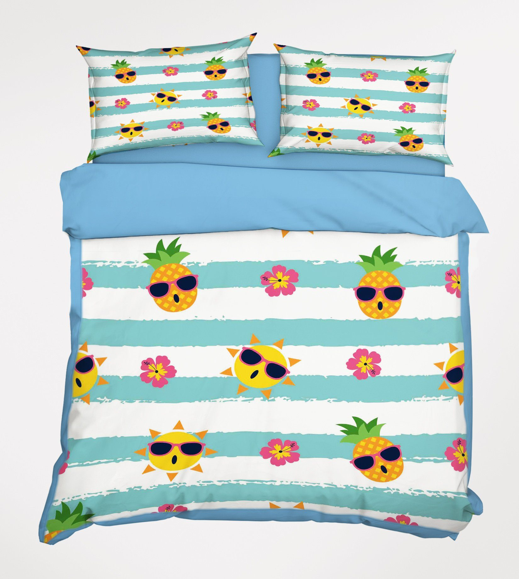 3D Small Pineapple 007 Bed Pillowcases Quilt Wallpaper AJ Wallpaper