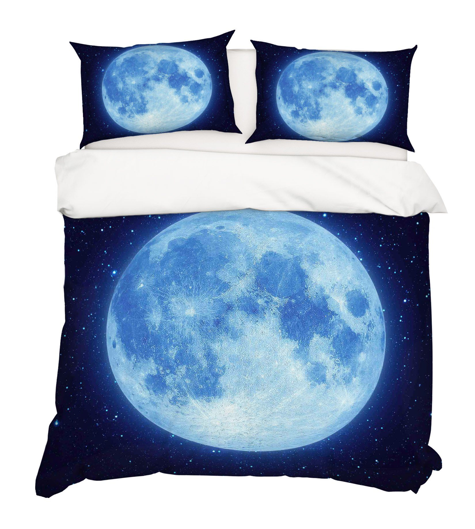 3D Round Moon 251 Bed Pillowcases Quilt