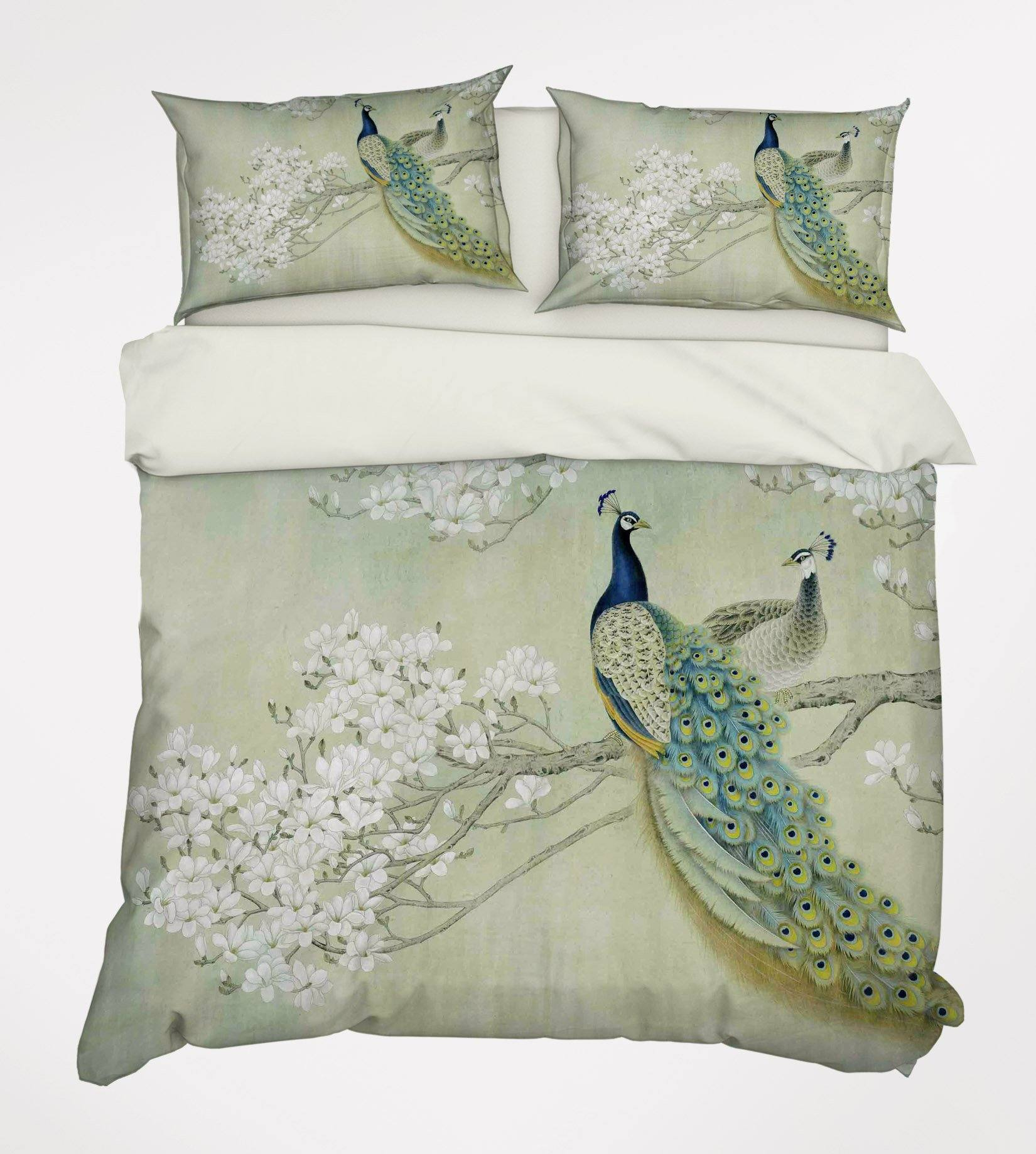 3D  Flowers Tree Peacocks 148 Bed Pillowcases Quilt