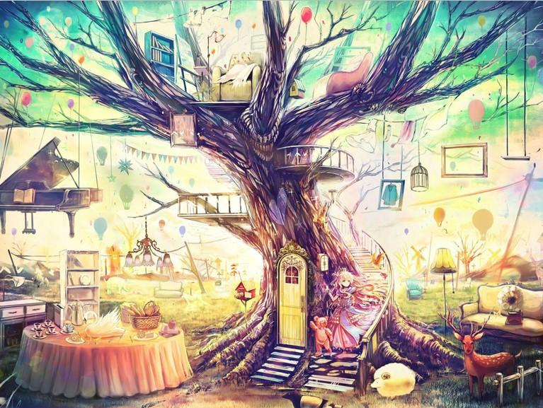 Tree House Wallpaper AJ Wallpaper