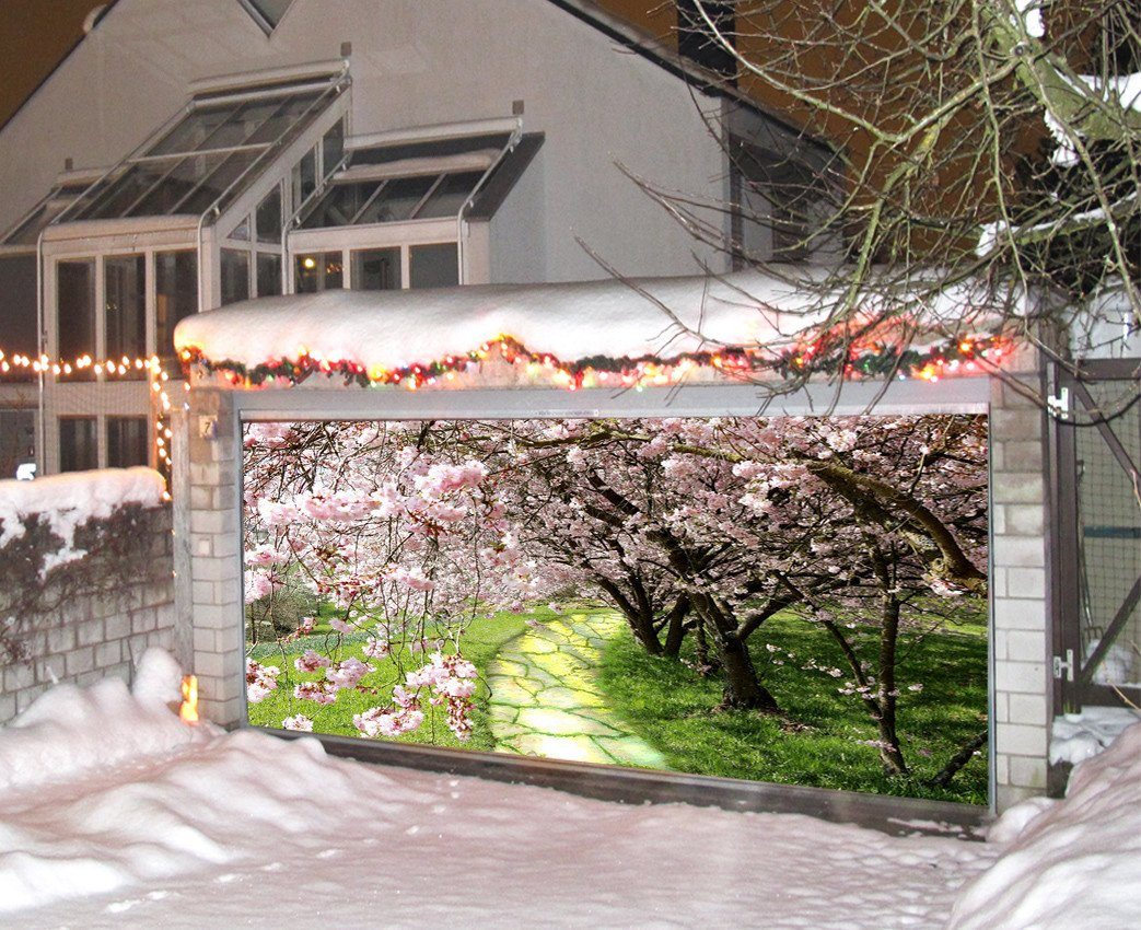3D Spring Flowers Trees 309 Garage Door Mural Wallpaper AJ Wallpaper