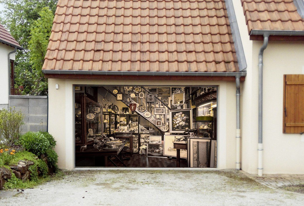 3D Antique Shop 295 Garage Door Mural Wallpaper AJ Wallpaper