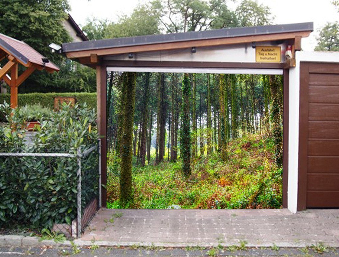 3D Forest Tall Trees 118 Garage Door Mural
