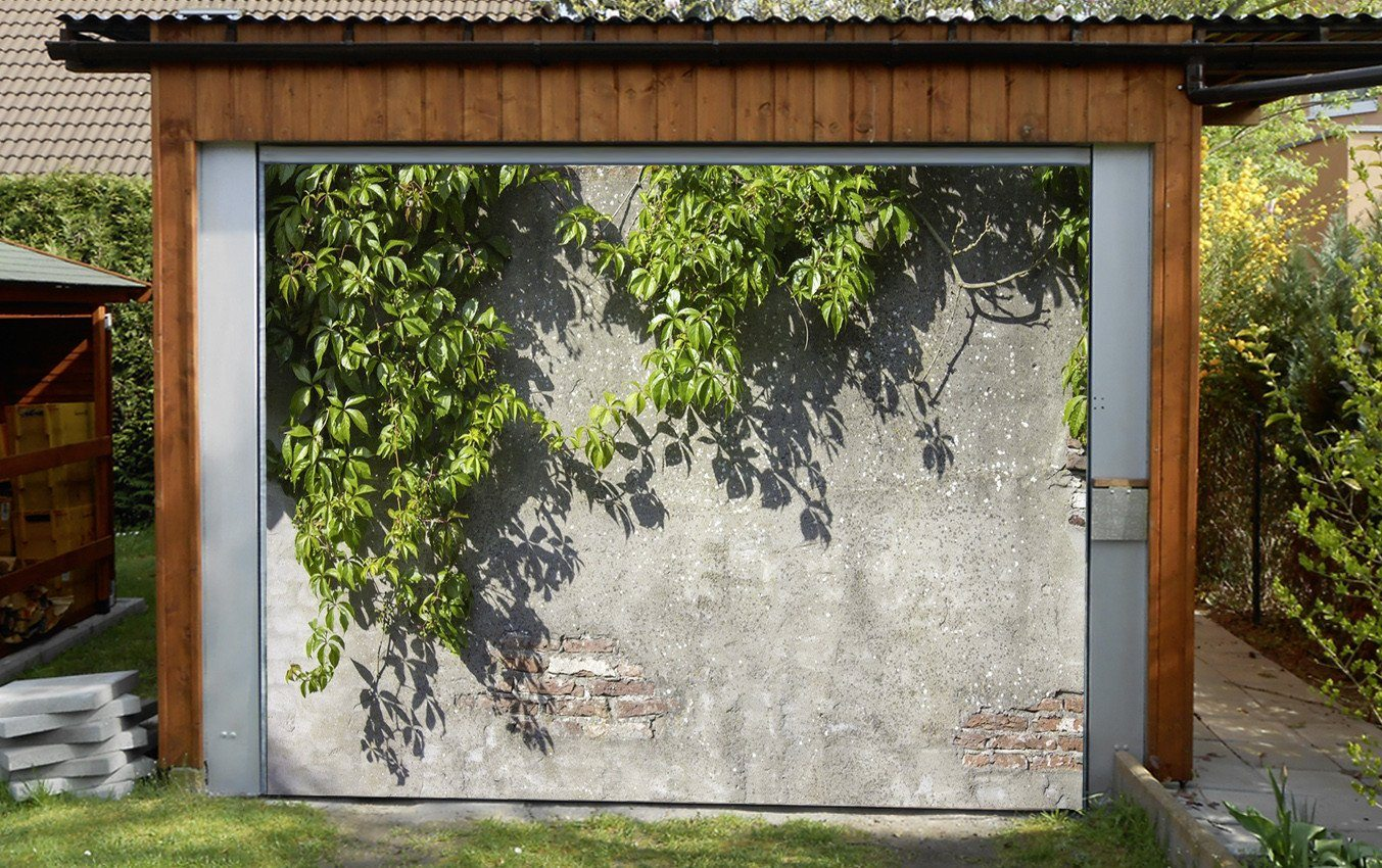 3D Green Vine 147 Garage Door Mural