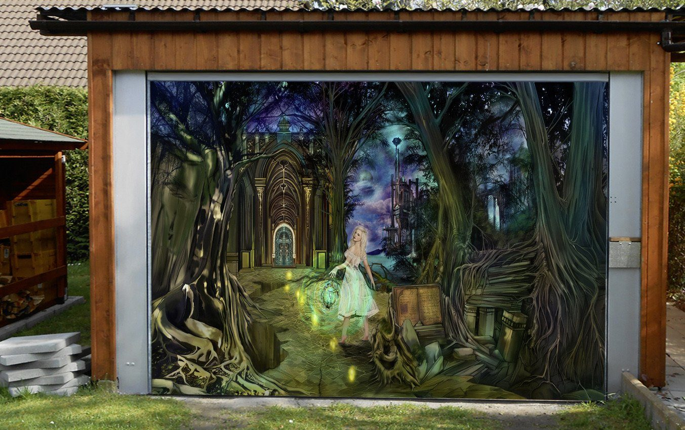 3D Magic Forest Elf 238 Garage Door Mural Wallpaper AJ Wallpaper