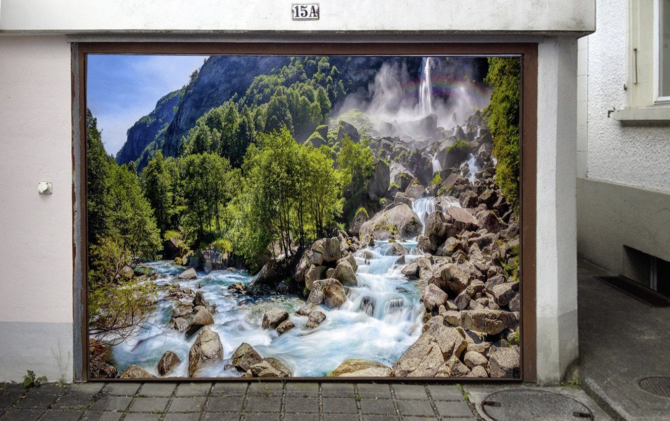 3D Mountain River 258 Garage Door Mural Wallpaper AJ Wallpaper
