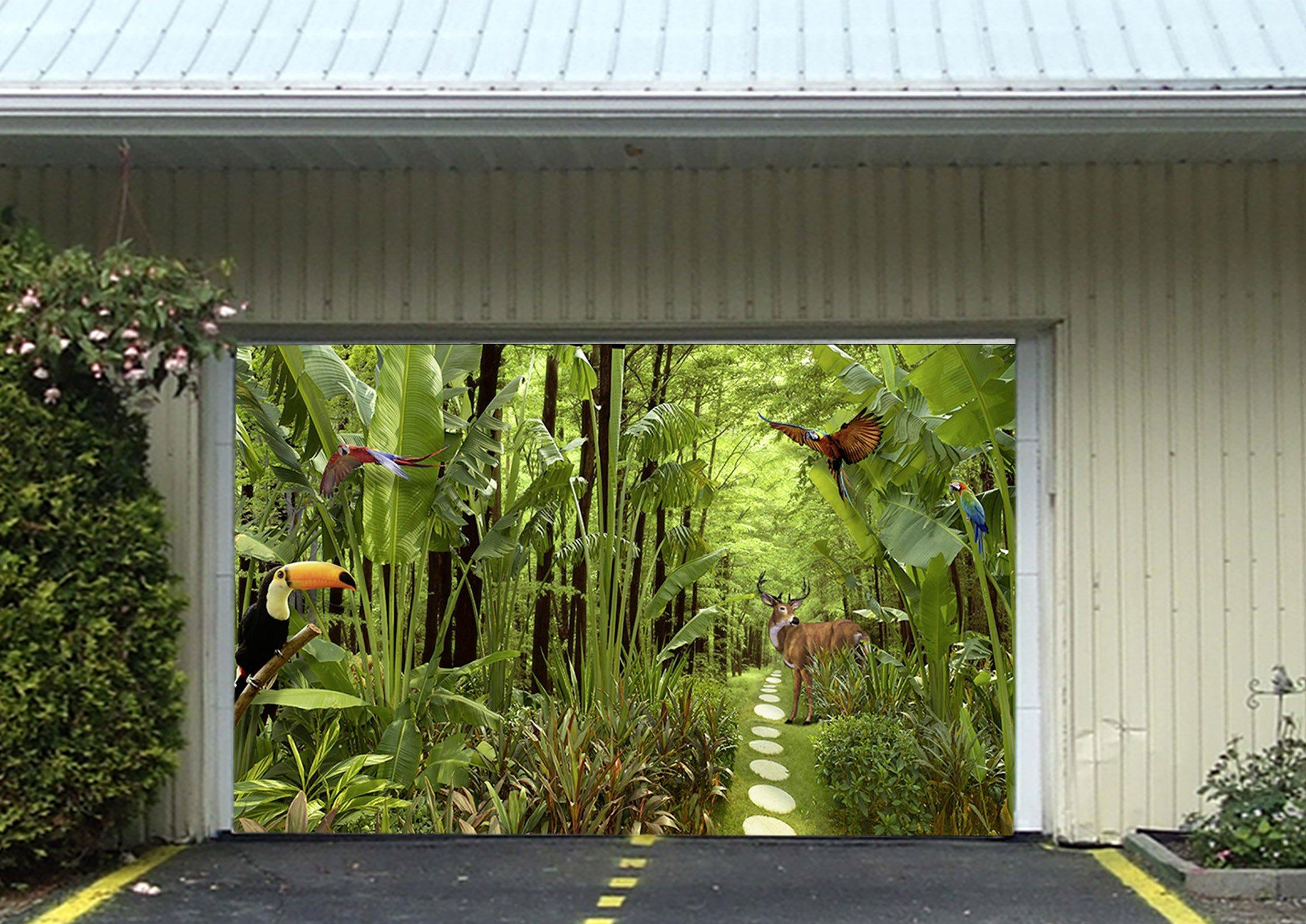 3D Forest Animals 374 Garage Door Mural Wallpaper AJ Wallpaper