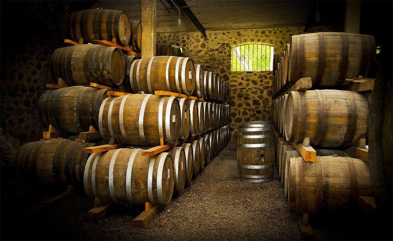 3D Wine Cellar Stacked Barrels 188 Garage Door Mural