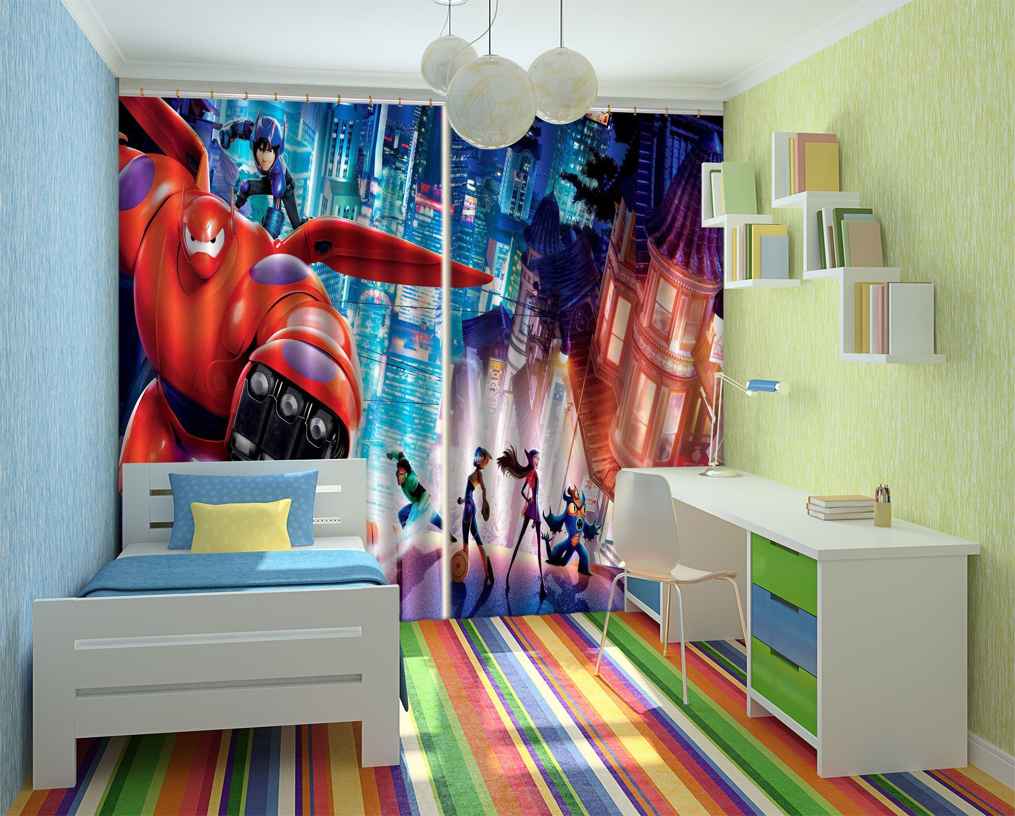 3D Cartoon Film Scene 2365 Curtains Drapes
