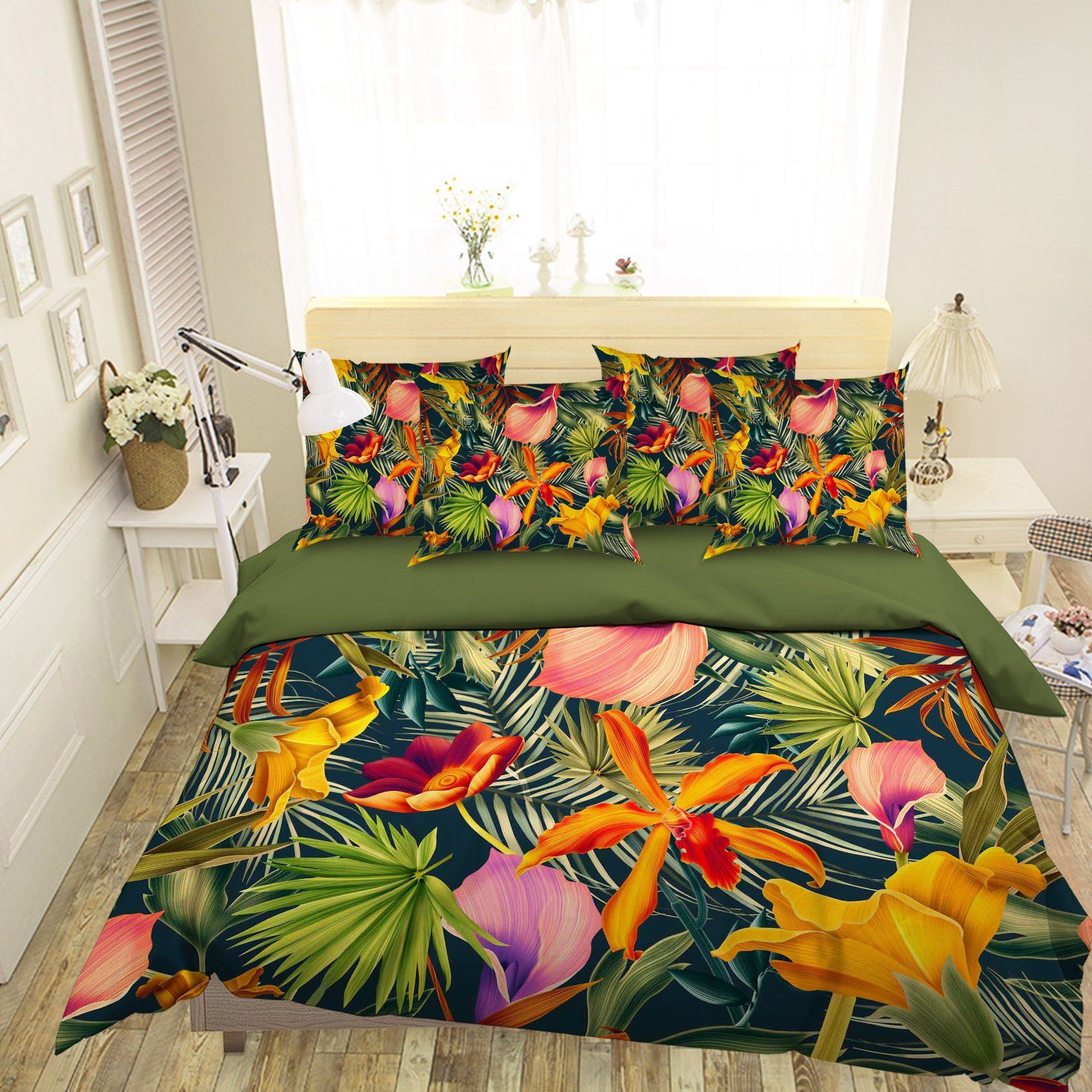 3D Coniferous Flowers 204 Bed Pillowcases Quilt