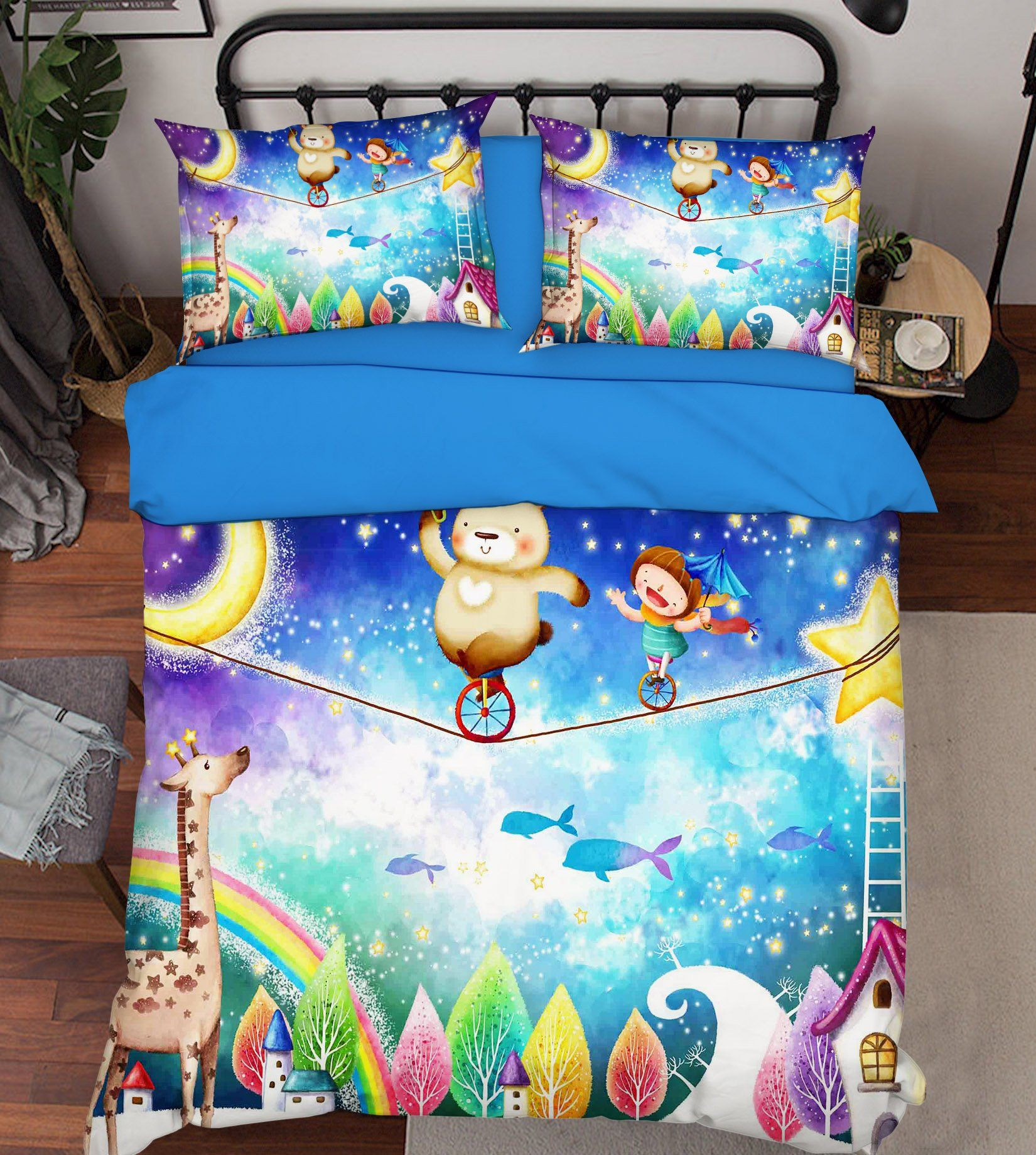 3D Acrobatics Dreamland 334 Bed Pillowcases Quilt
