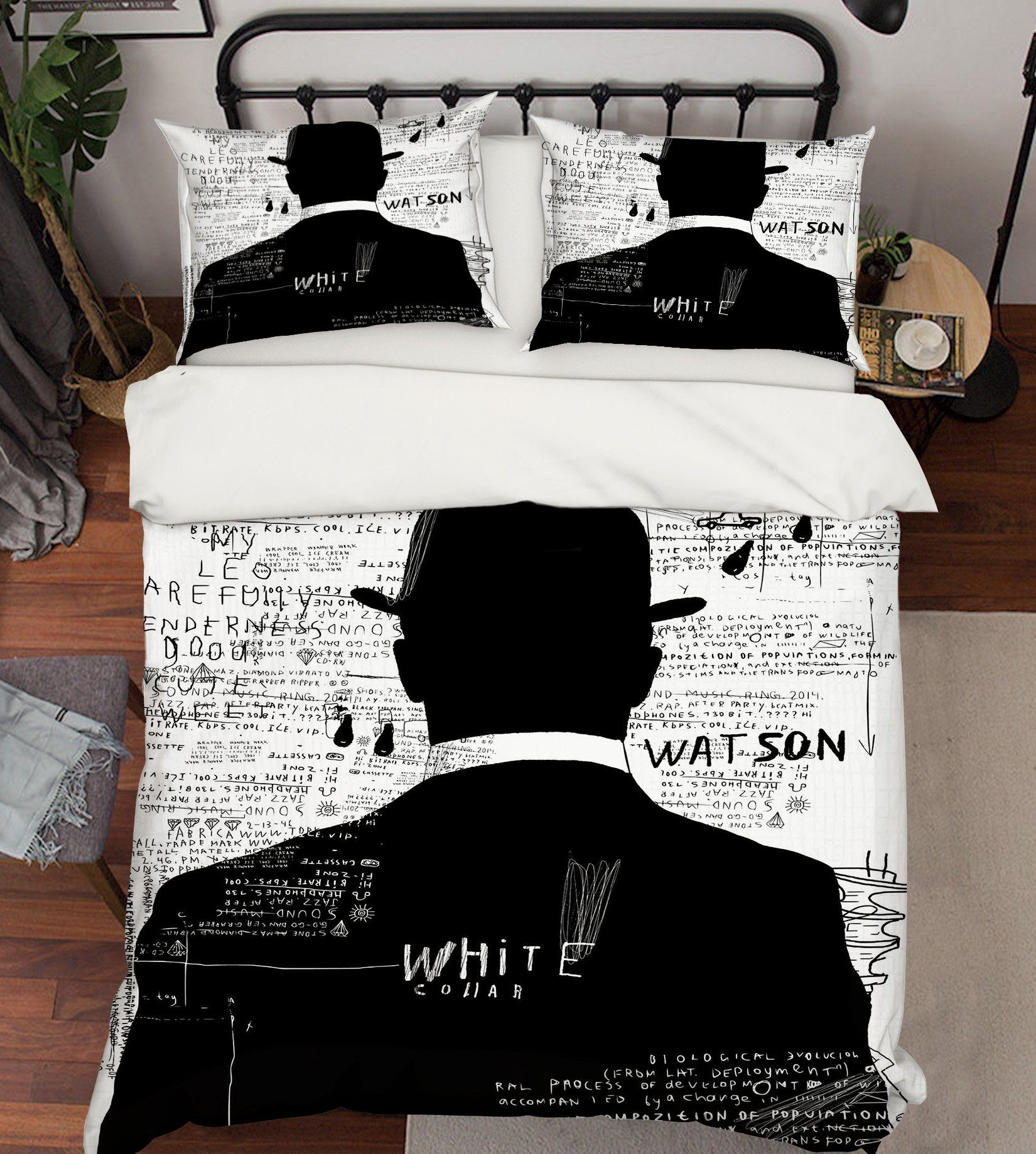 3D Man Back 216 Bed Pillowcases Quilt