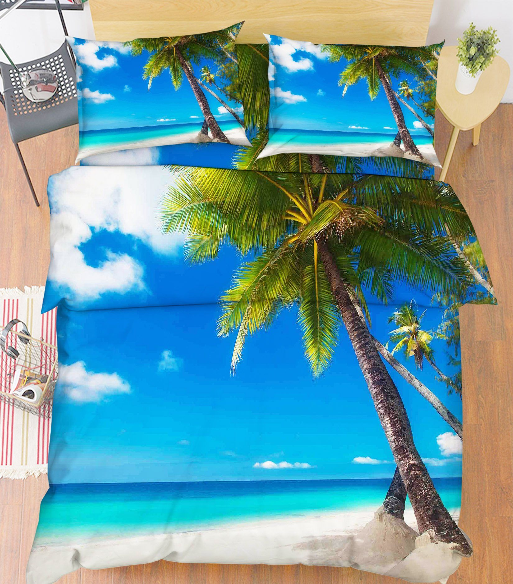 3D Beach Scenery 76 Bed Pillowcases Quilt