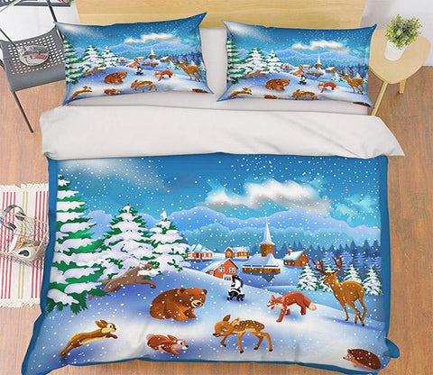 3D Play Games 181 Bed Pillowcases Quilt