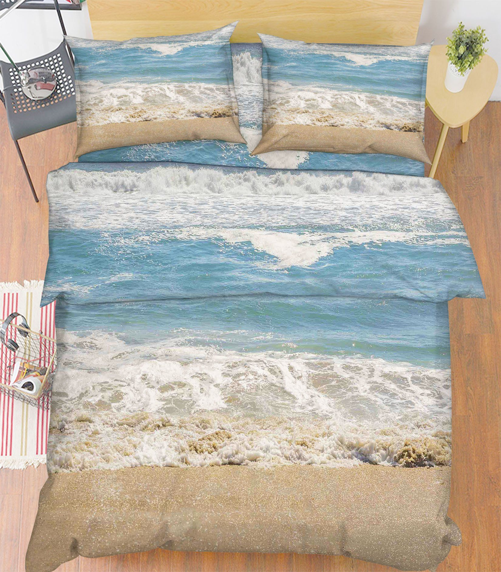 3D Beach Scenery 25 Bed Pillowcases Quilt