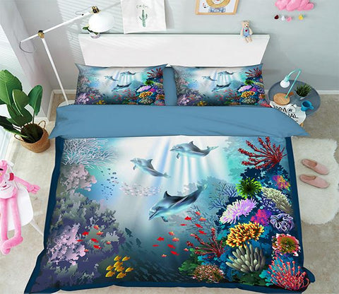 3D Submarine Whale 182 Bed Pillowcases Quilt