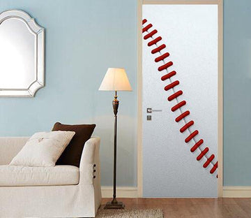 3D baseball game door mural Wallpaper AJ Wallpaper