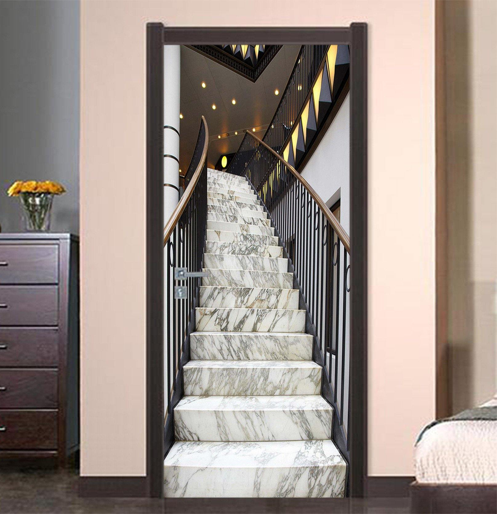 3D Marble Stairs 81 Door Mural Wallpaper AJ Wallpaper