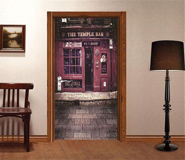 3D temple bar door mural Wallpaper AJ Wallpaper