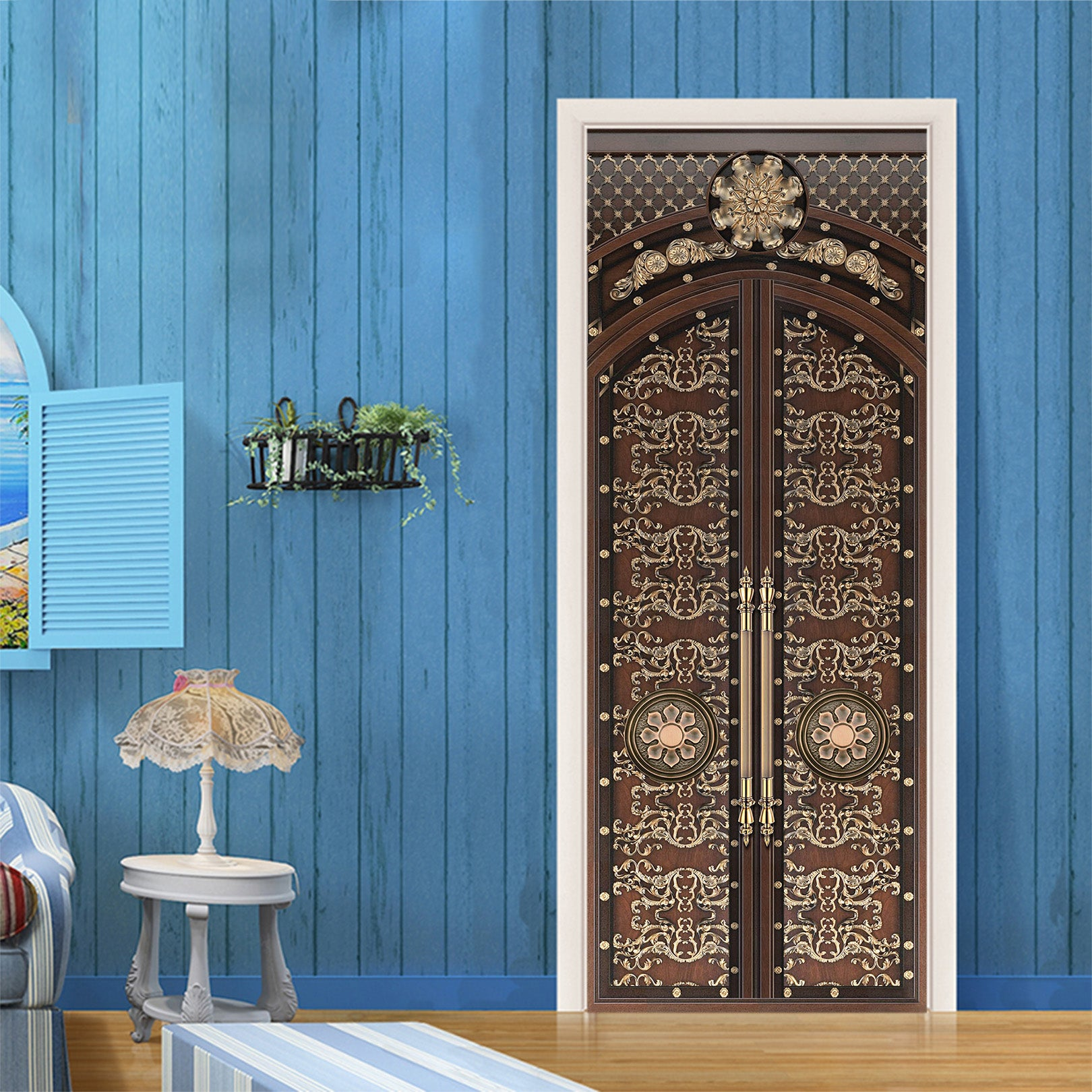 3D Retro Bronze Door 046 Door Mural