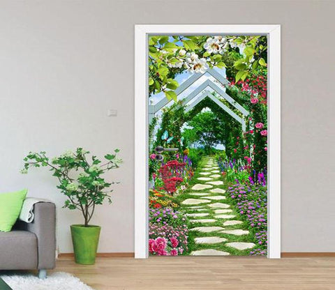 3D Stone Paved Road Door Mural Part 17